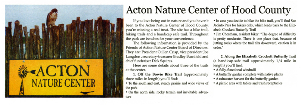 Cullen Crisp supporting Acton Nature Center